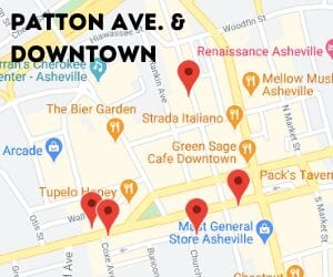 patton ave and downtown trail map